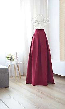 Sukne - MAXI skladaná sukňa  (obvod pásu do 80cm) - 9820398_