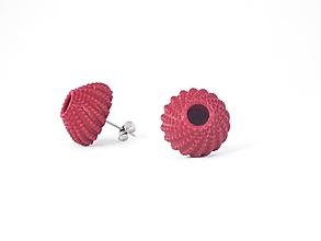 Náušnice - Náušnice ježovka purple red - 9818527_