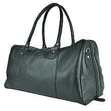 Veľké tašky - Kožená cestovná kabela v čiernej farbe - 9818938_