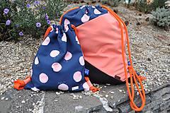 Detské tašky - Detský vak dAdKa - bodky - 9819527_