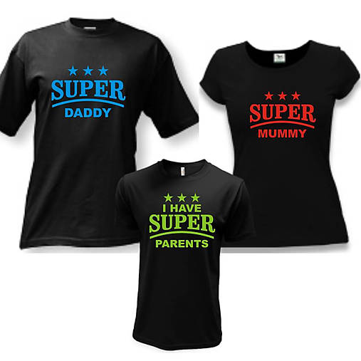b798b594b5c5 Super rodinka - rodinný set tričiek   ele-ele - SAShE.sk - Handmade ...