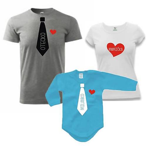 9c82606b2a91 Kravaťáci - rodinný set tričiek   ele-ele - SAShE.sk - Handmade Tričká