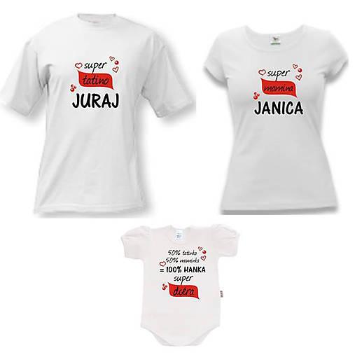 edd3c829e597 Super rodinka II. - rodinný set tričiek   ele-ele - SAShE.sk ...