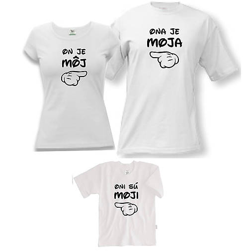 77f8229ef761 Ručičky - rodinný set tričiek   ele-ele - SAShE.sk - Handmade Tričká
