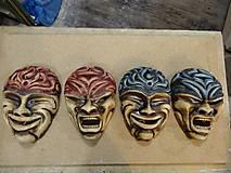 Dekorácie - Maska Smiech + Hnev (svietnik) - 9820492_