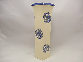 Dekorácie - Váza veľká B (Vaza 6hran vzor 6) - 9820543_