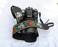 Nezaradené - Popruh na fotoaparát čierny - 9820427_