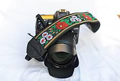 Nezaradené - Popruh na fotoaparát čierny - 9820428_