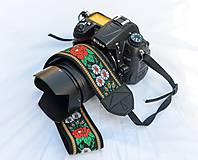 Nezaradené - Popruh na fotoaparát čierny - 9820429_