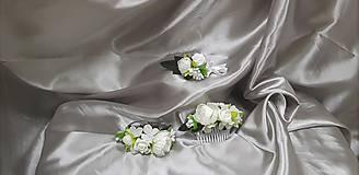 Kvetinový svadobný set z bielych kvetov