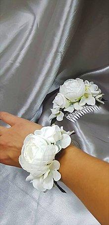 Sady šperkov - Svadobný biely kvetinový set pre nevestu - 9820409_