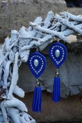 Náušnice - Náušnice slzy modré - 9820325_