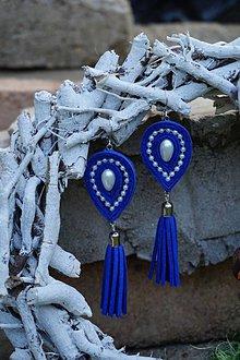 Náušnice - Náušnice slzy modré - 9820321_