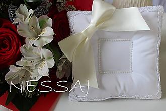Prstene - Luxusný svadobný vankúšik pod obrúčky - SV23 - 9820653_