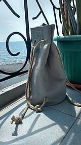 Batohy - Ľanový batoh- backpack - 9818812_