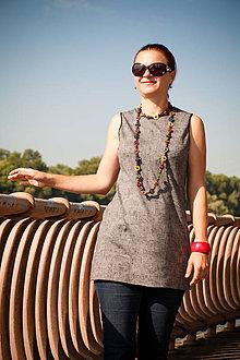 7e119207a9ef Tehotenské oblečenie - Sivá šatová sukňa s otvormi na dojčenie - 9818868