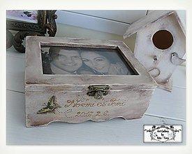 Krabičky - Krabička so skleneným vrchom na fotku :) - 9819027_