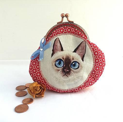 fa7802f72f Minitaštička mačička červená   AdvancArt - SAShE.sk - Handmade Iné tašky
