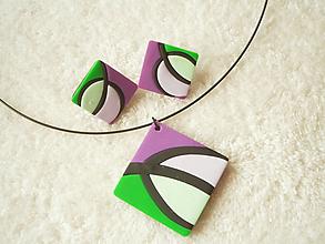 Sady šperkov - Sada šperkov z polyméru, list - 9820097_