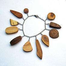 Náramky - Retiazkový náramok s drievkami - 9819487_