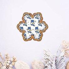 Dekorácie - Vianočné grafické perníky so vzorom - snehové vločky snehuliačik - 9819782_