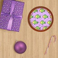 Dekorácie - Vianočné grafické perníky so vzorom - vianočná guľa kapor - 9819783_