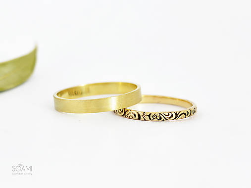 585/14k zlaté snubné prstene , svadobné obrúčky