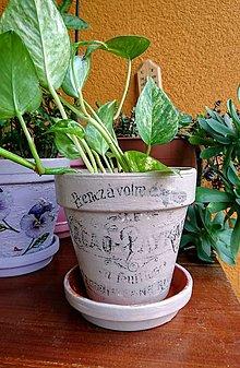 """Nádoby - Kvetináč Ø 12,5 cm """"Beige"""" - 9821547_"""