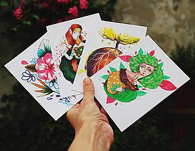 Papiernictvo - Napíš niekomu/ trochu prírodné pohľadnice - 9822526_