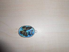 Iné šperky - Motýlí medailón - 9822564_