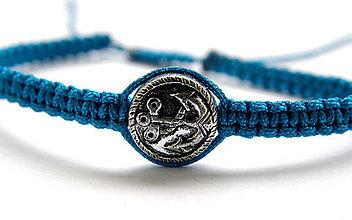 Náramky - minca kotva shamballa - 9822109_