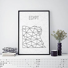Grafika - EGYPT, minimalistická mapa - 9821828_