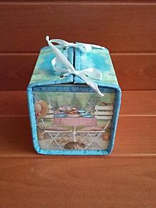Krabičky - Box na vreckovky - 9821450_