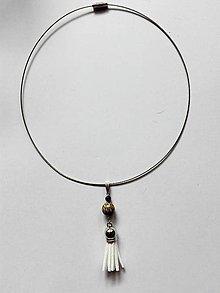 Iné šperky - Prívesok na retiazku-obruč Elegance-santalové drevo s lávou - 9822573_