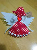 Detské doplnky - Červený anjelik na kočár - 9821053_