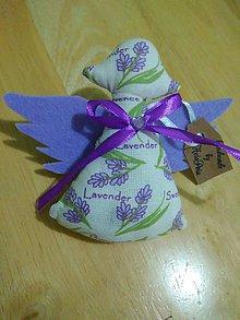 Dekorácie - Levanduľový anjelik - 9821010_
