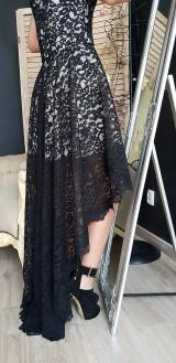 Šaty - Spoločenské šaty high-low z krajky rôzne farby - 9821207_