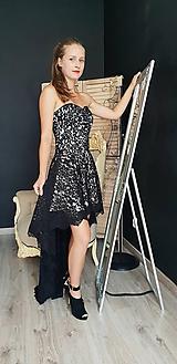 Šaty - Spoločenské šaty high-low z krajky rôzne farby - 9821211_