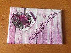 Drobnosti - Magnetka Najlepší rodičia - 9822916_