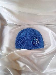 Detské čiapky - čiapka modrá - 9822516_