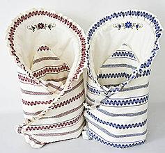 Detské doplnky - zavinovačka folk-červená,modrá (Červená) - 9821955_