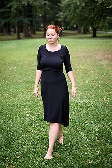 7f2a6e9b8535 Šaty - Bambusové šaty na dojčenie Low High - čierna - 9822152