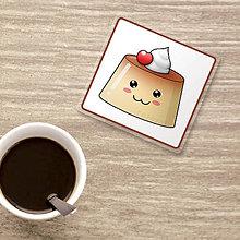 Pomôcky - Podšálka usmievavý puding(želé) - karamel a čerešnička - 9821046_