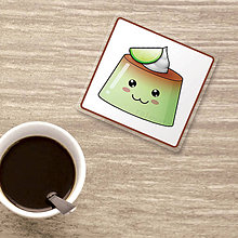 Pomôcky - Podšálka usmievavý puding(želé) - limetka - 9821051_