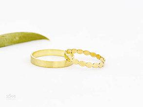 Prstene - 585/1000 zlaté snubné prstene , svadobné obrúčky - 9823551_
