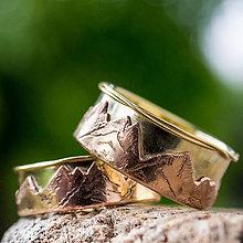 Prstene - Láska hory prenáša ... /verzia v zlate/ - 9825712_