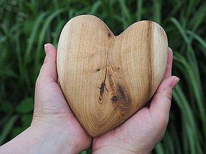 Dekorácie - Srdce z jaseňa - 9824210_