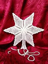 Dekorácie - Vianočná hviezda II (Priemer-21-cm.) - 9824322_