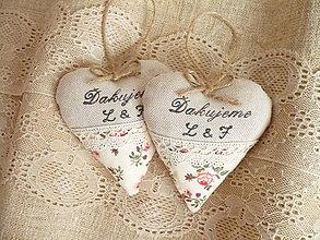 Darčeky pre svadobčanov - Svadobné srdiečko s textom - 9823656_