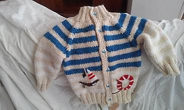 Detské oblečenie - detský svetrík námorník - 9823660_